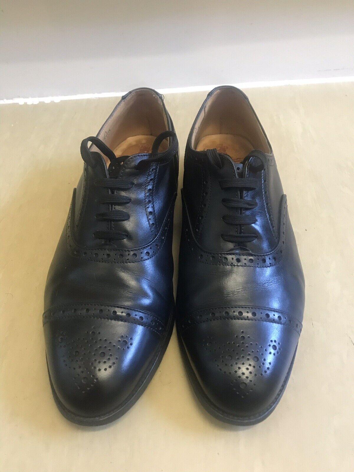 Trickers Bourton Acorn Richelieu à noir hommes chaussures Taille 45 UK 11