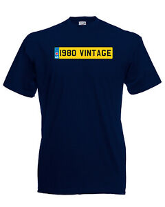 1980-Vintage-Number-Plate-Birthday-Graphic-Quality-t-shirt-tee-mens-unisex