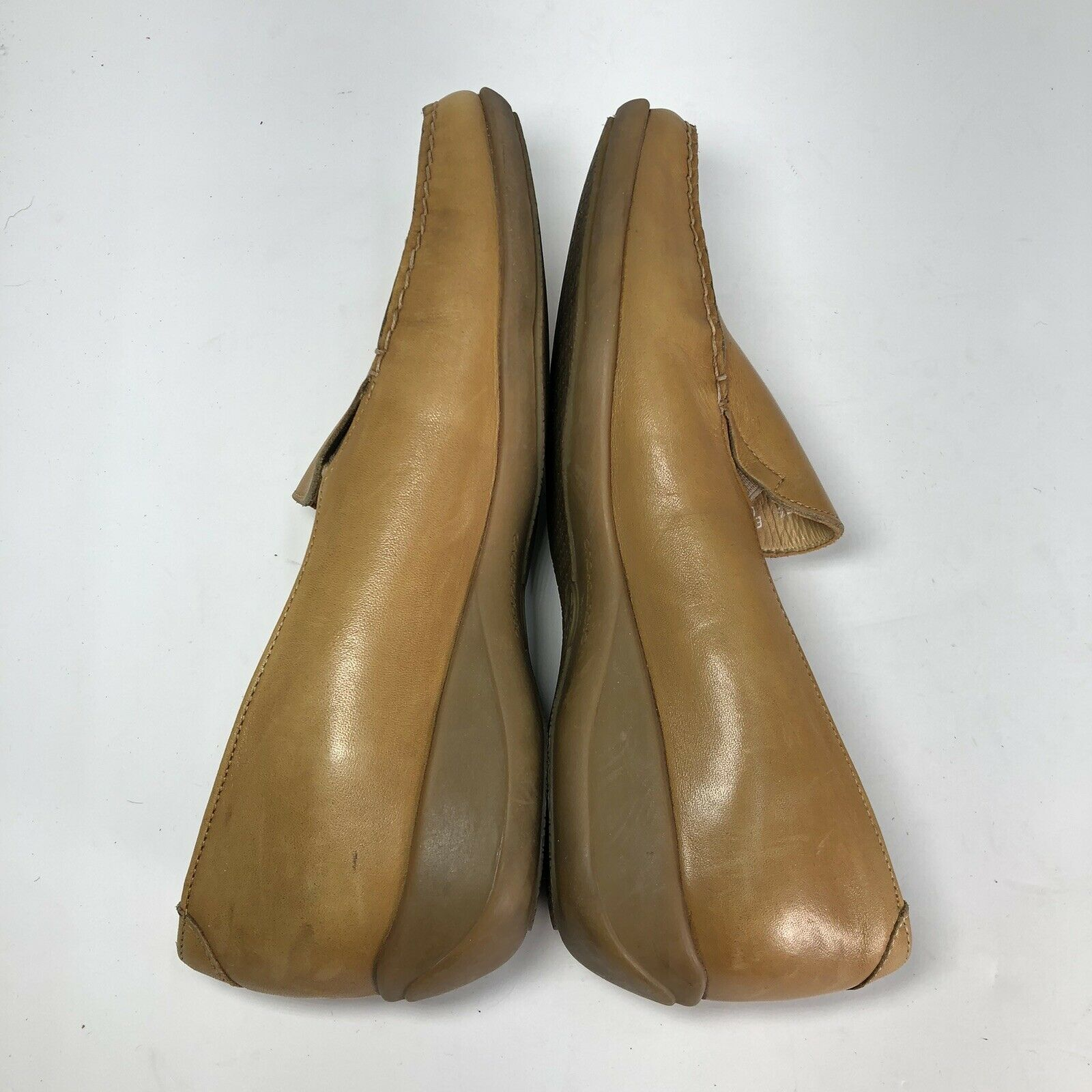 Mephisto Tan Leather Square Slip On Womens Flats … - image 5