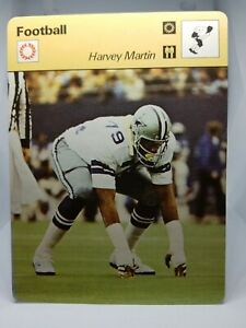 1978-Sportscaster-NFL-Card-39-22-Harvey-Martin-Dallas-Cowboys-Mint-Condition