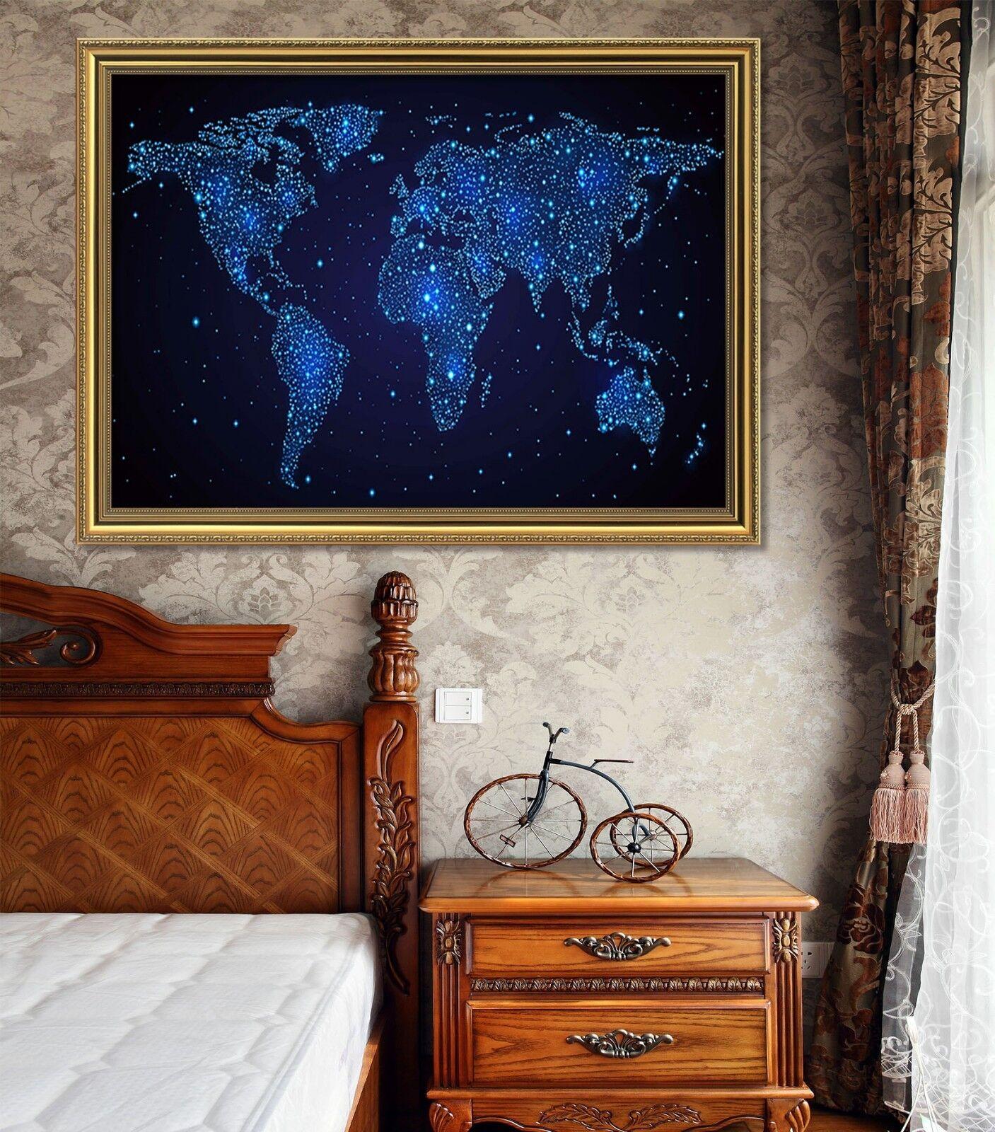 3D Star Map 51 Framed Poster Home Decor Print Painting Art AJ WALLPAPER