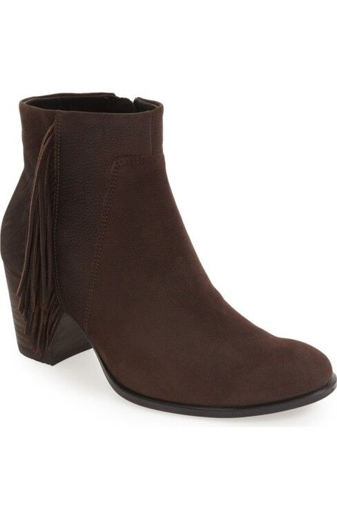 NEW ECCO Shape 55 Low Cut Booties WOMENS 39 US BROWN  FRINGE SIDE