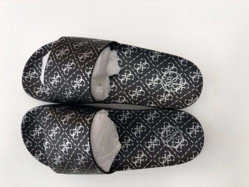 GUESS Women/'s Savan Sandals//Slides in Black /& Silver Size UK 2 3 4 5 6 BNIB