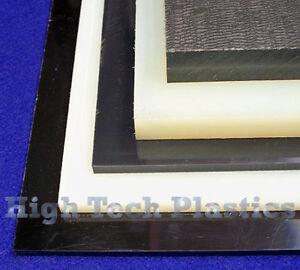 ".500/"" x 12/"" x 24/"" Natural Color HDPE Plastic Sheet Polyethylene Panel FDA NSF"