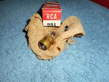 RCA 991 VACUUM TUBE BRASS BASE VINTAGE NOS AUDIO RADIIO TUBE BOX TAB DATE (5-56)