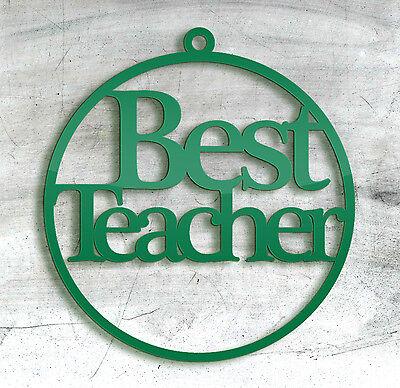 Insegnante Christmas Tree Bauble, Etichetta Da Regalo, Regali Di Vita, Compleanno, Gli Insegnanti Giorno-