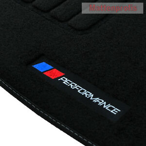 velours logo performance fu matten f r bmw 4er f32 coupe. Black Bedroom Furniture Sets. Home Design Ideas