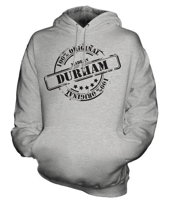 MADE IN DURHAM UNISEX HOODIE  Herren Damenschuhe LADIES GIFT CHRISTMAS BIRTHDAY 50TH