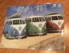 VW Kombi Metal Tin Sign Plaque Advertising Many Other Brands Listed