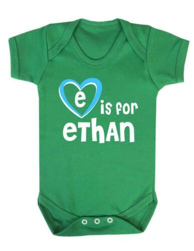 E Is For Ethan Baby Vest Playsuit Ethan Baby Bodysuit