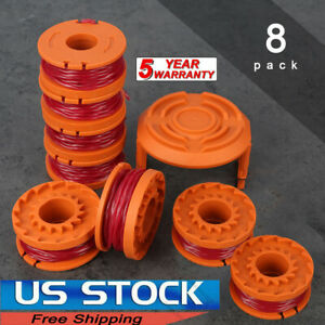 For WORX WA0010 Replacement Spool Line Grass Trimmer/Edger,10ft  8Pack+1 Spools