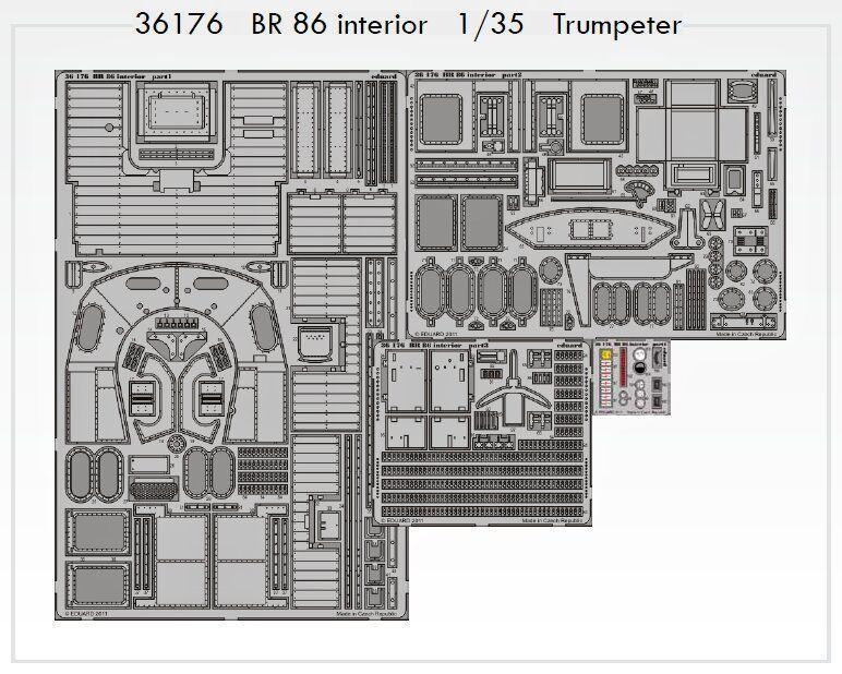 Eduard 1 35 BR86 Kriegslocomotive Interior for Trumpeter