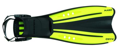 OceanPro Mako Scuba Diving or Snorkeling Fins Open Heel Yellow All Sizes