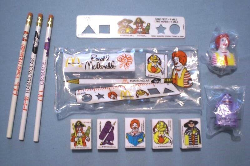 McDonald's 1984  School Days - Complete, mostly Unused Set