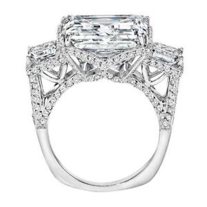 6Ct-Asscher-Cut-Diamond-Cocktail-Queens-Engagement-Ring-14K-White-Gold-Finish