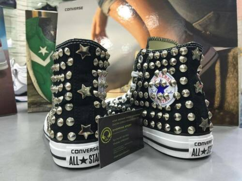 Silver Black High Studs Full Star Converse Studs za4twx1q