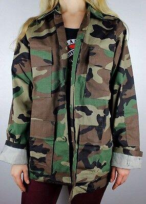 Woodland Camouflage BDU Shirt Army Jacket Camo All Sizes