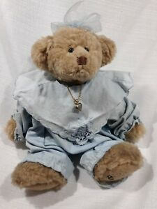 Teddy Bear Ganz Cottage Collectibles Dressed With Necklace 8 Inches 1999 Ebay