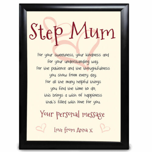 Personalised Gifts for Auntie Aunt Aunty Keepsake Print Birthday Xmas gift Print