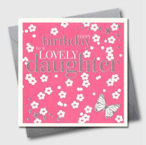 Image Is Loading Greetings Cards Flowers Luxury Embossed Daughter Birthday Greeting
