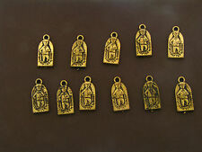 Vintage Coated Lucite Sportcrafter Rugby Figural Mixed Media Charms Findings Lot