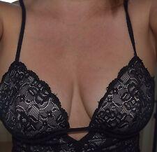Sexy BEBE Black lace mini dress (5/6) #300-100 $34.99