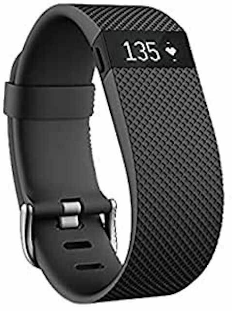 Fitbit Charge HR Wireless Activity Wristband Black Large (6.2 - 7.6 in) Health activity black charge Featured fitbit health large wireless wristband
