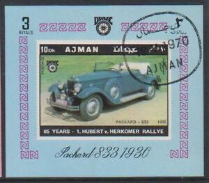 Ajman - 1970, Vintage Car (Packard 833 1930 sheet - CTO