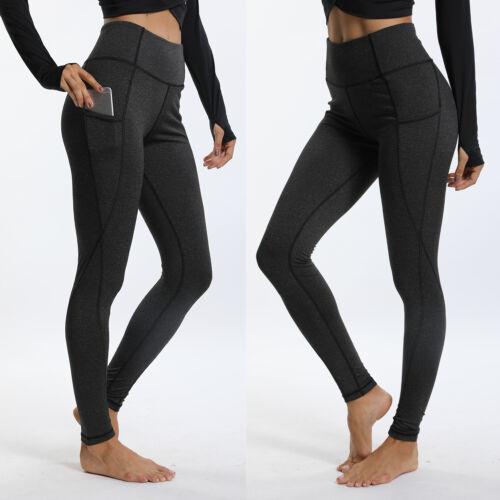 Women Butt Lift Leggings High Waist Yoga Fitness Pants Scrunch Workout Trouser N