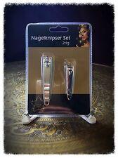 Nagelknipser Set silber incl. 3 Parfumproben zum testen
