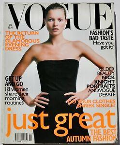1998 Kate Moss VOGUE 90s vintage fashion magazine Sarah Moon Bailey DVF November