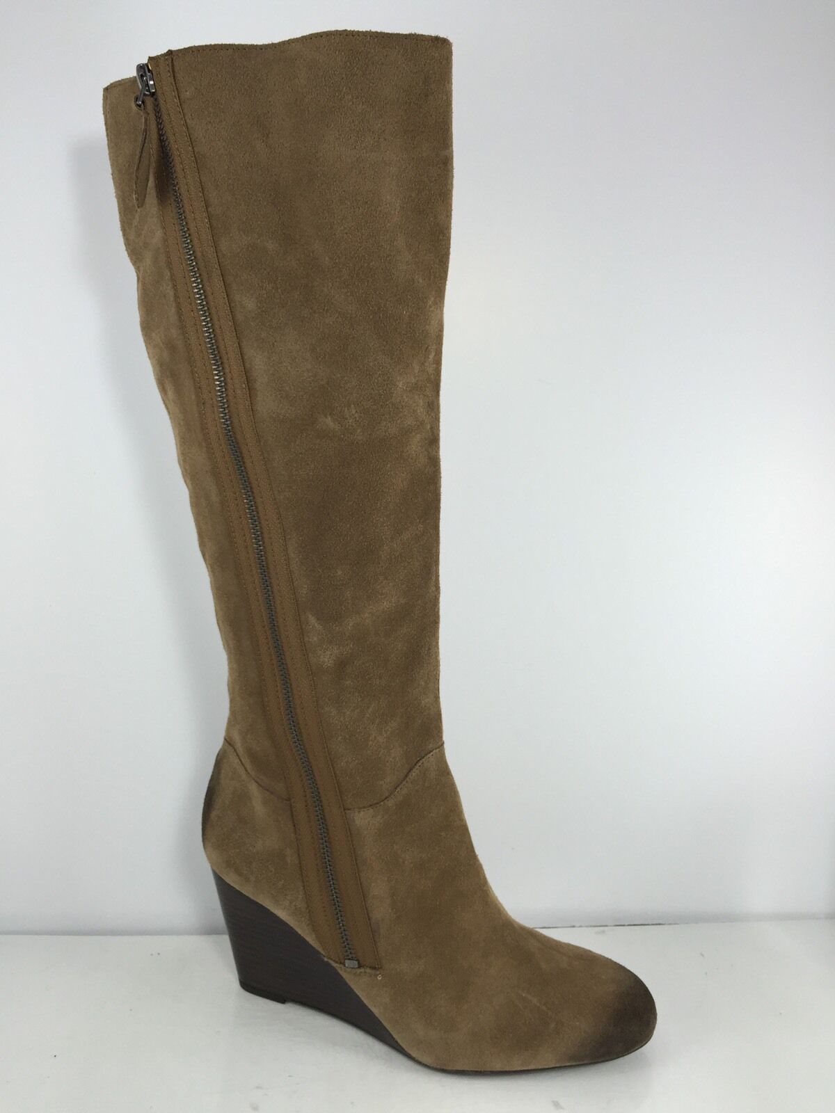 Franco Sarto Damenschuhe Braun Leder Knee Stiefel 10 M M 10 e545e2