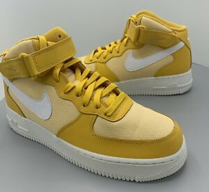 Details about Unreleased Sample Nike Air Force 1 AF1 07 Mid Yellow CI1119 200 Size 9 Very Rare