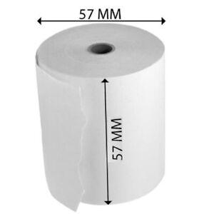 57mmx40mm PDQ CREDIT CARD /& TILL THERMAL PAPER ROLLS 10 ROLLS