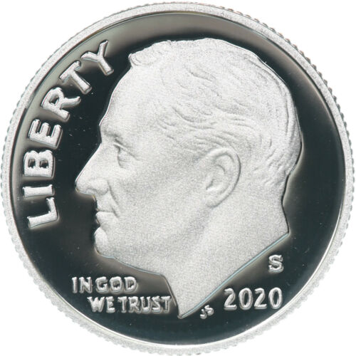 2020 S Roosevelt Dime Gem Deep Cameo CN-Clad Proof US Coin