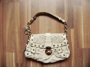 Details about @ guess @ Great Bag Beige Studs 28x20 cm New