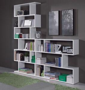 Ciara White Bookcase Display Shelf Unit Room Divider