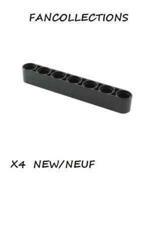Black Technic LEGO x 4 Liftarm 1 x 7 Thick 32524 NEUF