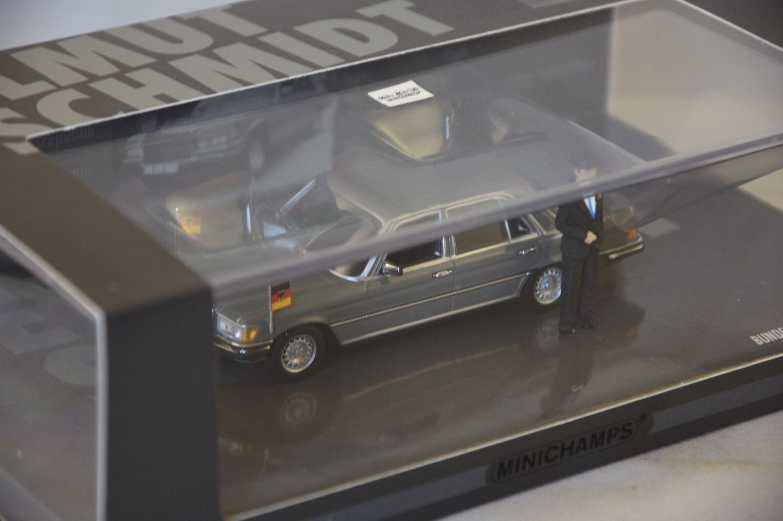 Minichamps 436039200-mercedes-Benz 350 sel (w116) 1972-helmut schmidt 1 43
