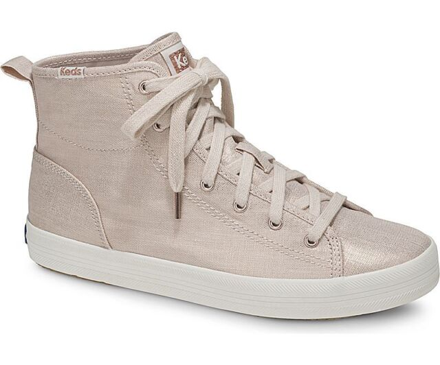 d2b73eb6c2ce Frequently bought together. Keds Women s Kickstart Hi Metallic Linen  Sneaker Size 10 Rose Gold