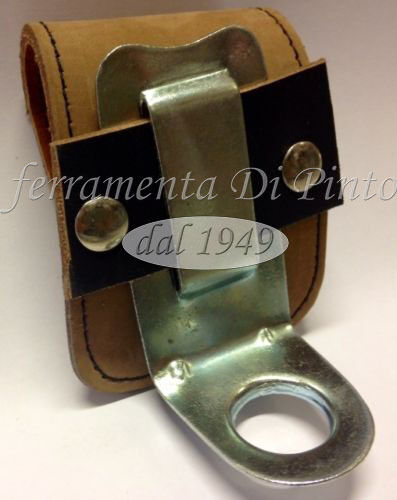 PORTE PINCE COUPANTE CHARPENTIER CUIR VÉRITABLE ARTISANAT ITALIE PORTATENAGLIA