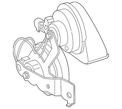 Genuine Ford Horn GB5Z-13832-A