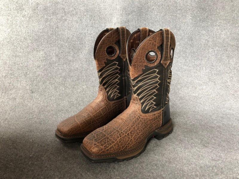 Combat Para Hombre Impermeable Cuadrado Puntera De Acero Trabajo botas Vintage botas de vaquero Tamaño de la UE
