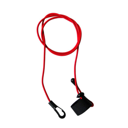 Durable Bungee Cord Fishing Rod// Kayak Paddle Leash with Snap Hook Red