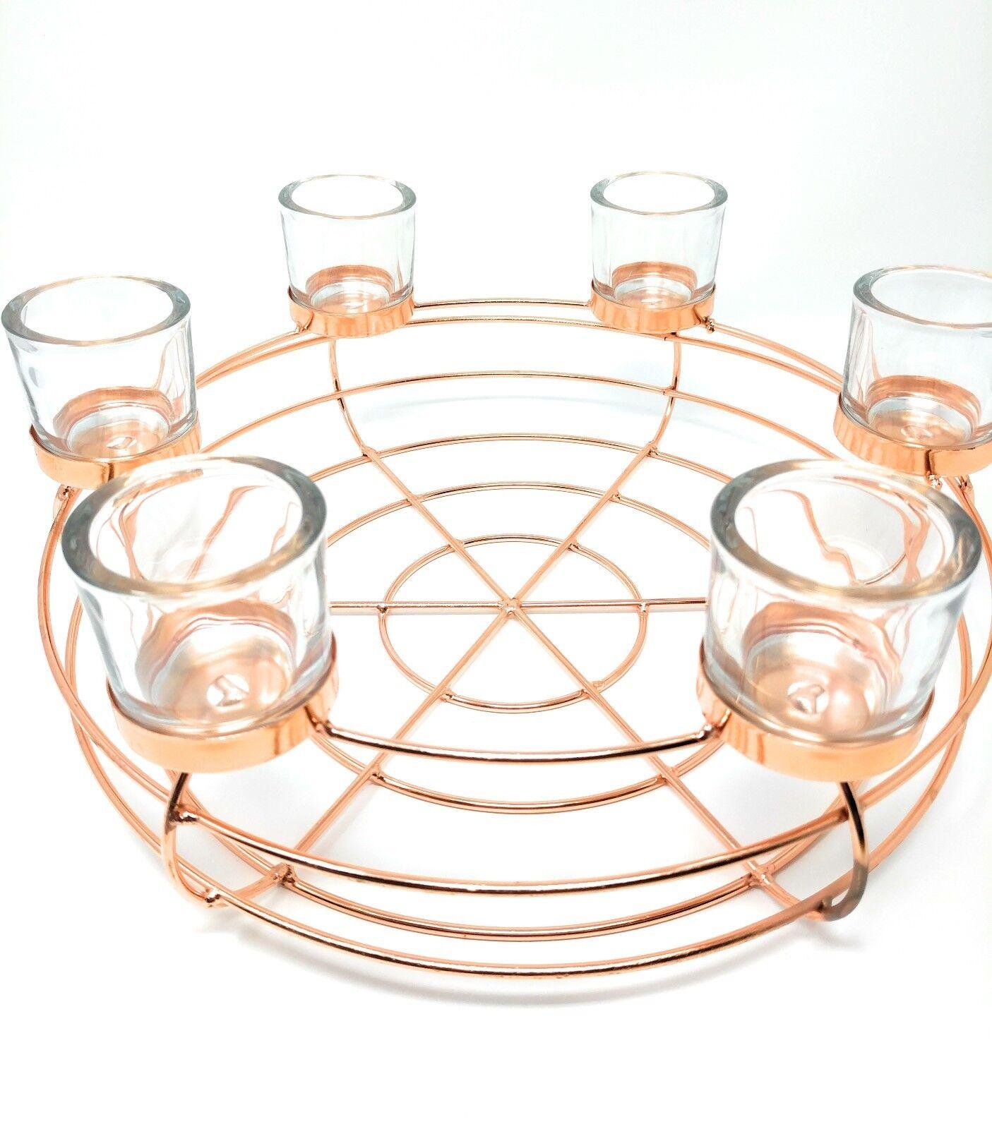 Kerzenhalter Kupfer Rund Teelichthalter Größe  30 30 30 x 30cm  | Modern Und Elegant  b0d9ac