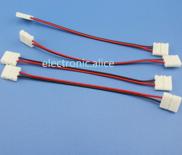 10 St PCB Cable 2 Pin LED Strip Connector 3528//5050 Single Color Adapter WHJ