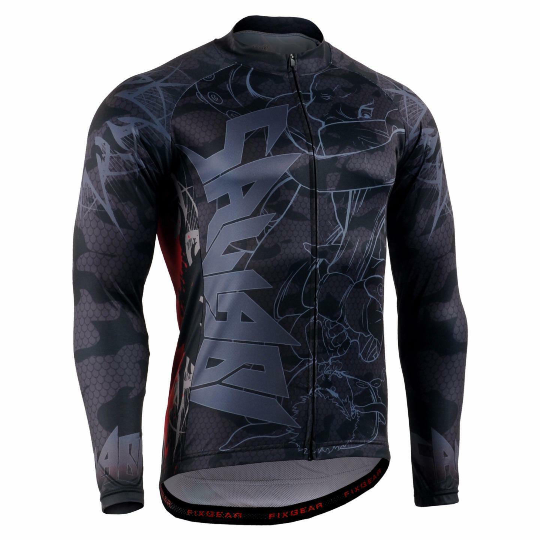 FIXGEAR  CS-H501 Men's Long Sleeve Cycling Jersey Bicycle Apparel Roadbike MTB  enjoy 50% off