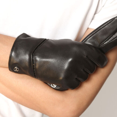 Mens Genuine Nappa Leather Warm Lined Classic Gloves More Color On Sale #E010