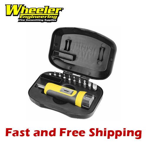 Wheeler Engineering FAT Firearm Accurizing Torque Wrench Kit 10 Bit Set w// Case