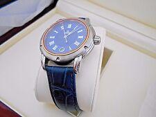 Mint GEVRIL Men's S0111 Blue Dial Swiss Quartz Leather Watch with Box. #1119